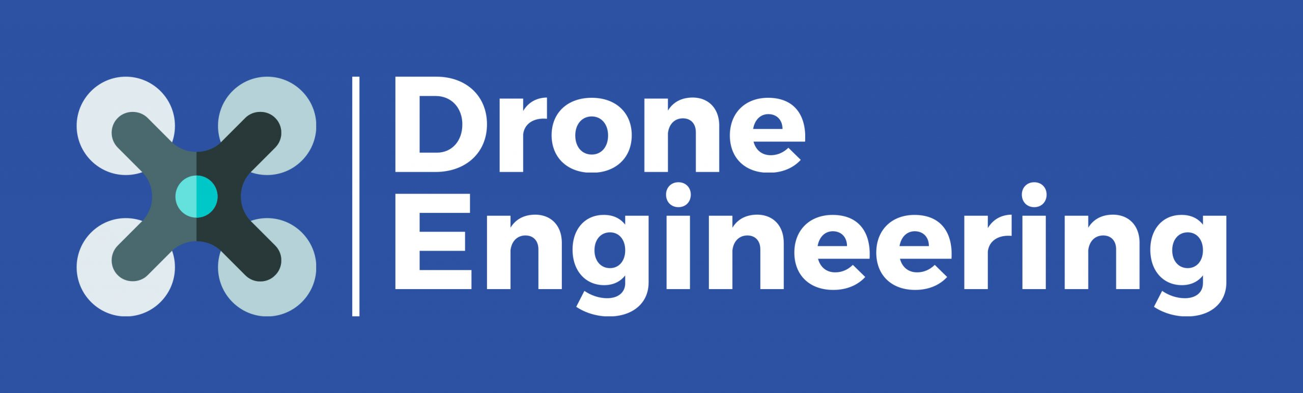 Logo Drone Engineering fond bleu